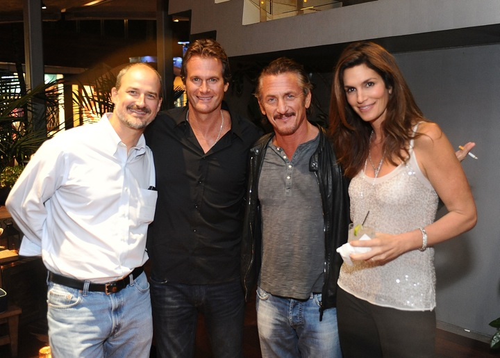 Sean Penn, Rande Gerber, Cindy Crawford and Roberto Serralles