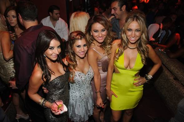 Hollyscoop girls celebrate at TAO