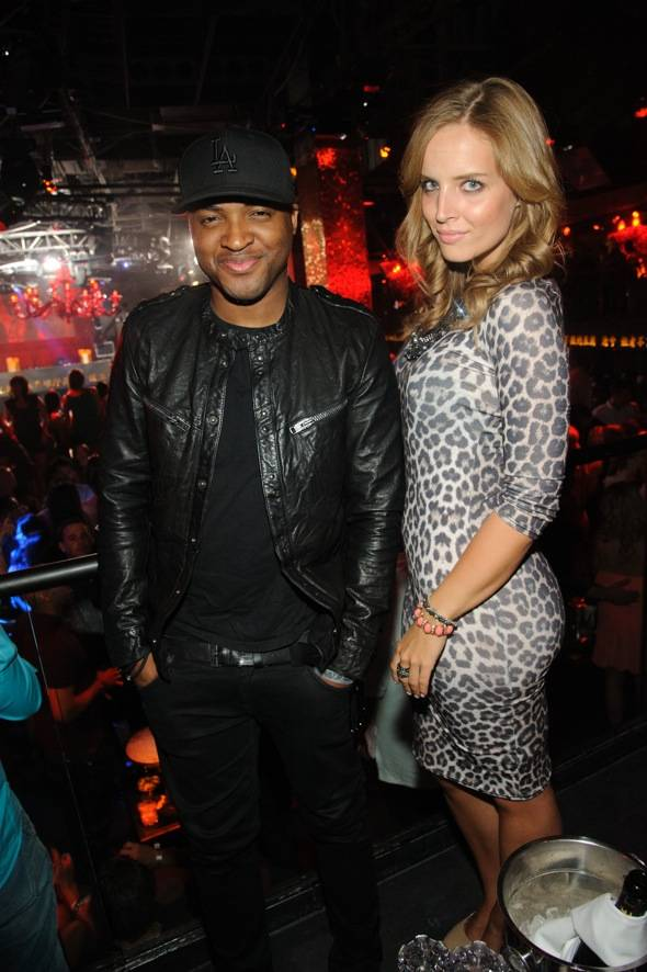 Taio Cruz with DJ Alex Merrell at TAO