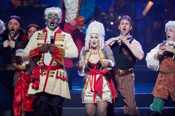 The cast of Phantom The Las Vegas Spectacular hit the stage at Golden Rainbow's Ribbon of Life 6.24.12lowres