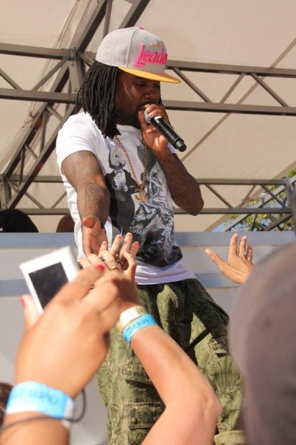 Wale with fans at Ditch Fridays at Palms Pool & Bungalows 6.15.12