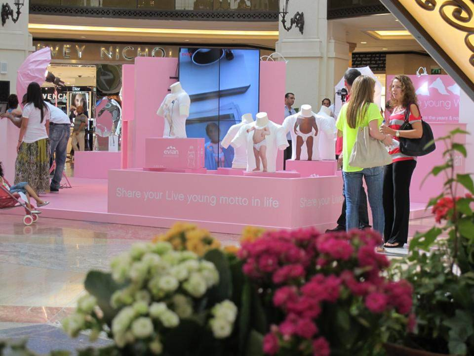 booth Evian Campaign Dubai