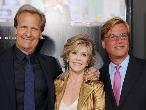 Jeff Daniels, Jane Fonda and Aaron Sorkin