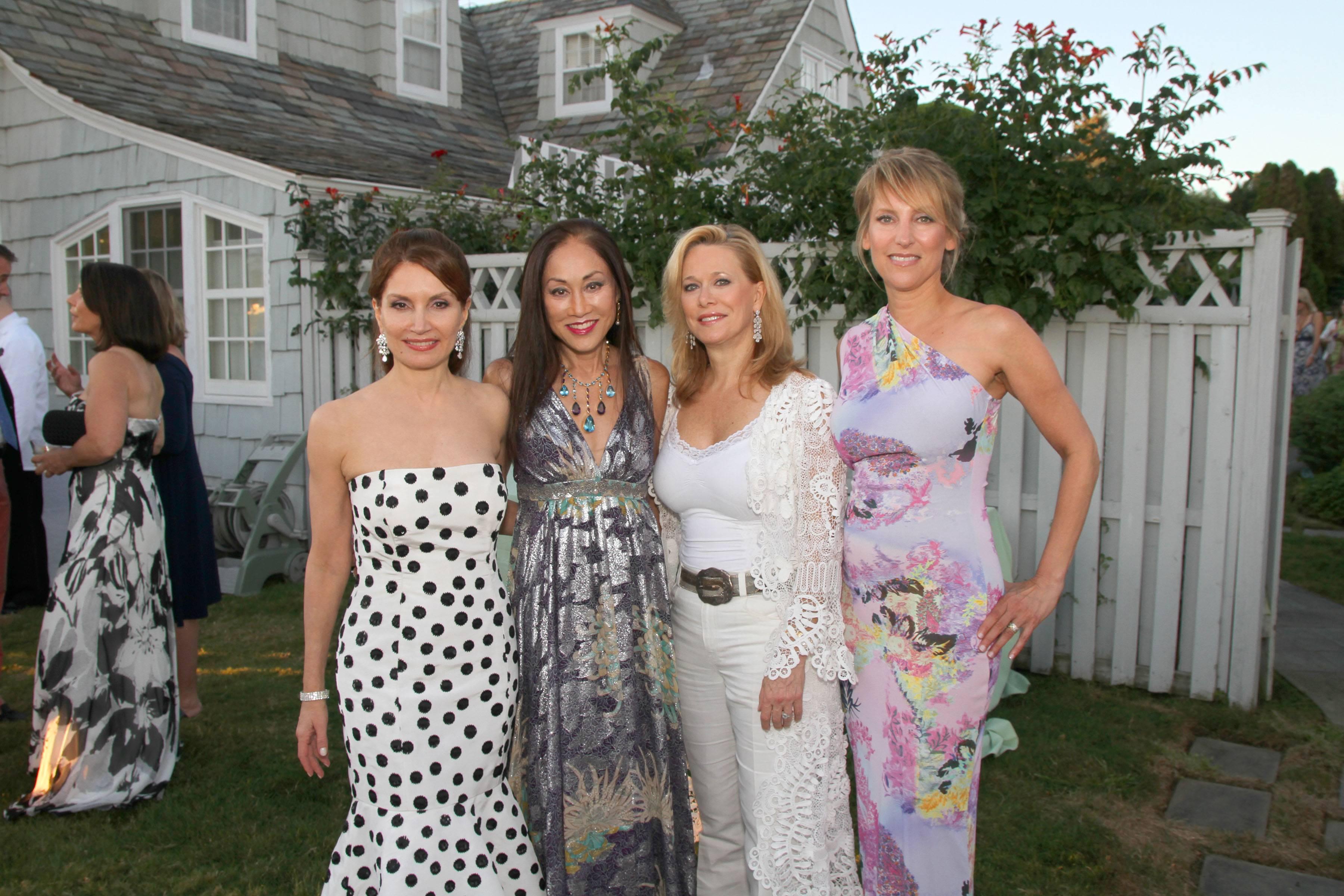 13. Jean Shafiroff, Lucia Hwong Gordon, Kim White, Melanie Wambold