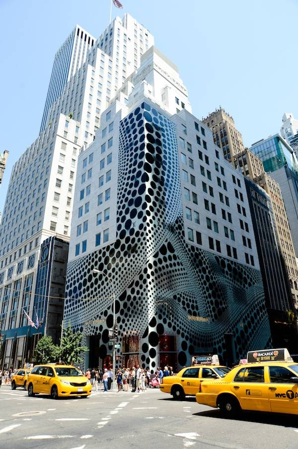 5th Ave NYC Kusama facade
