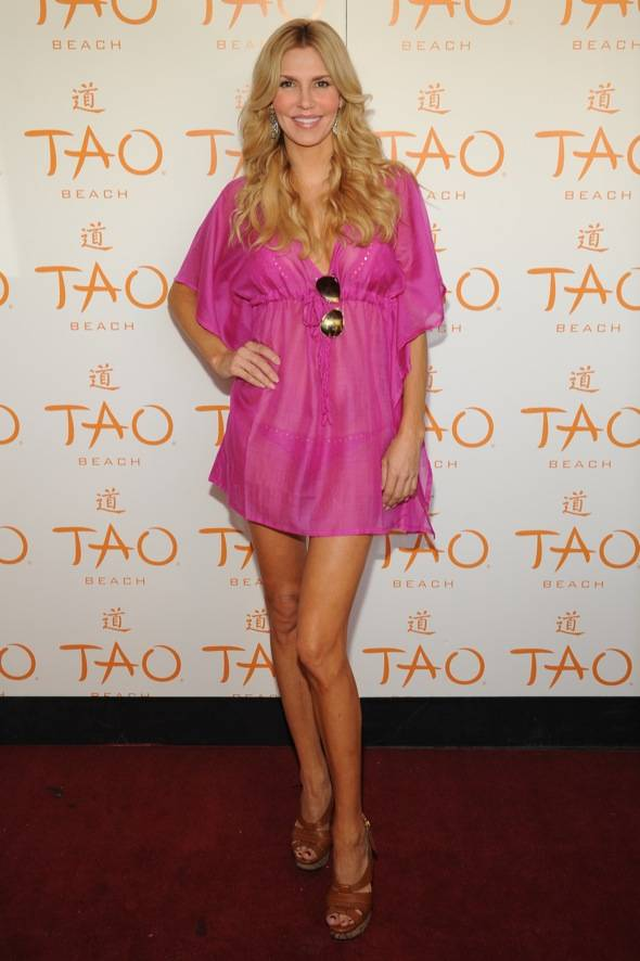 Brandi Glanville at on the red carpet at Tao Beach.