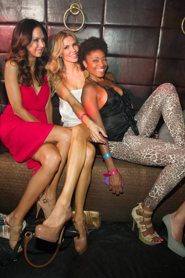Brandi Glanville center with friends at LAVO