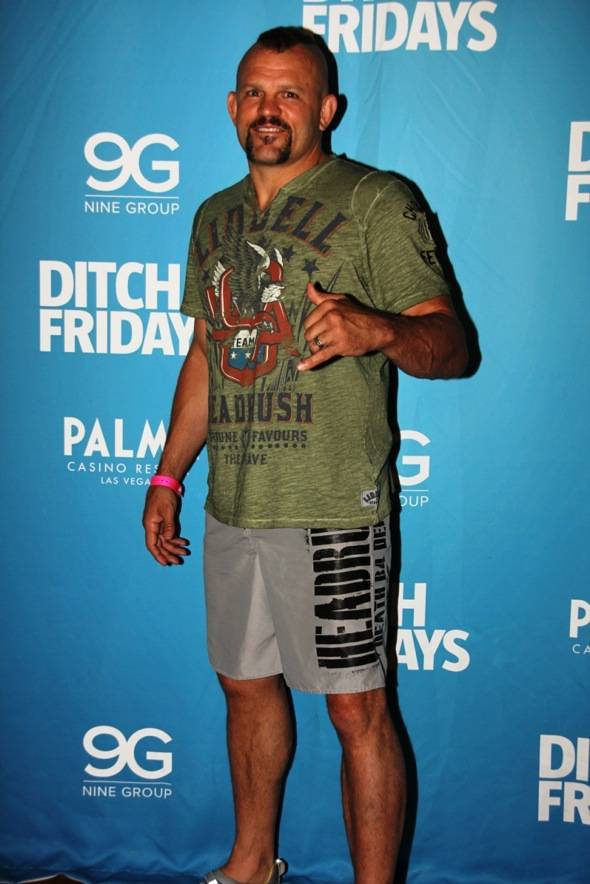 Chuck Liddell at Palms Pool & Bungalows in Las Vegas 7.5.12