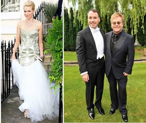 Elton Naomi Chopard White Tie