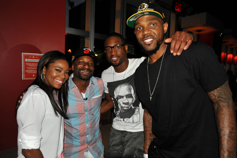Gabrielle Union, DJ Irie, Dwyane Wade, & Udonis Haslem
