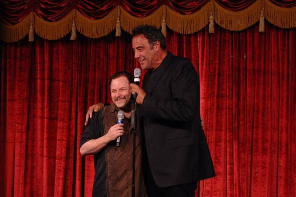 Jason Alexander and Brad Garrett at Brad Garrett's Comedy Club at MGM Grand