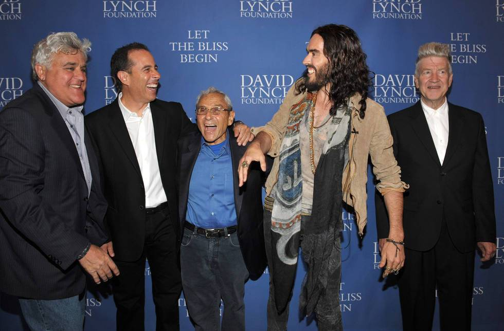 Jay Leno, Jerry Seinfeld, George Shapiro, Russell Brand, David Lynch