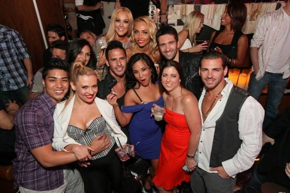 Lacey Schwimmer celebrates her 24th birthday at Hyde Bellagio with friends, Las Vegas, 6.29.12