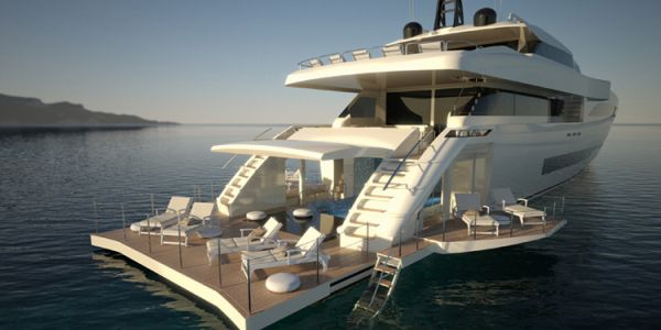 Wider Yachts Wider 150 To Feature Garage Swimming Pool