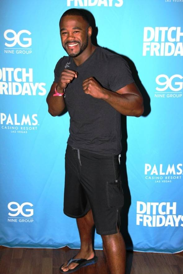 Rashad Evans at Palms Pool & Bungalows in Las Vegas 7.5.12