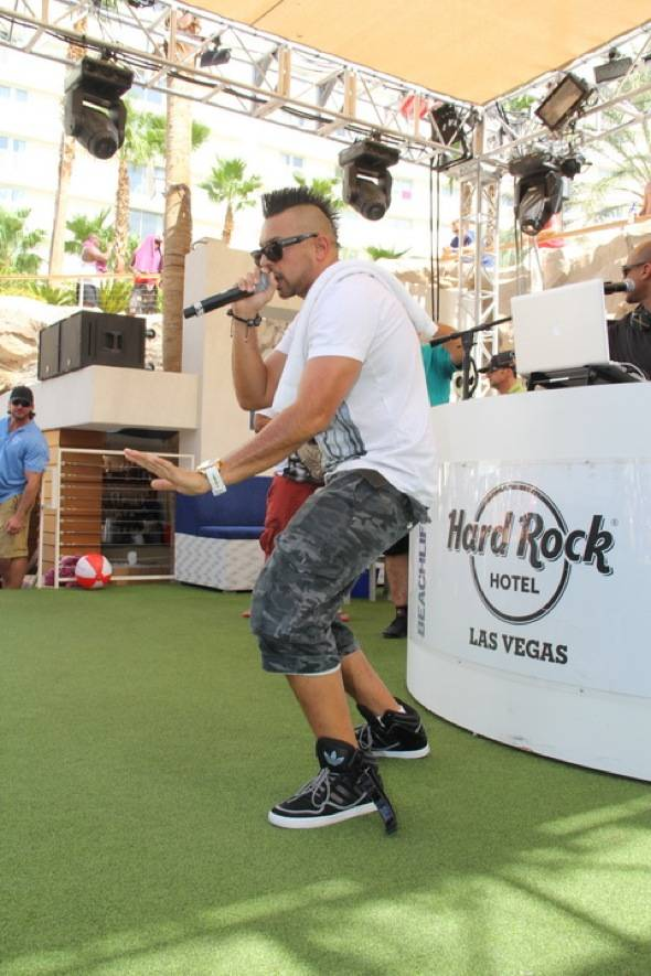 Sean Paul performing on stage at Rehab 7.22.12