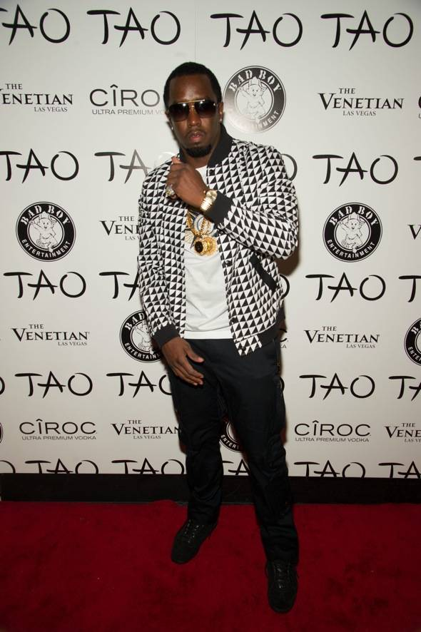 "Sean ""Diddy"" Combs parties at TAO"
