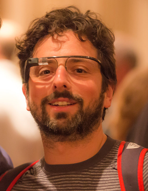 Robert Scoble and Google Co-Founder Sergey Brin at Last Night's