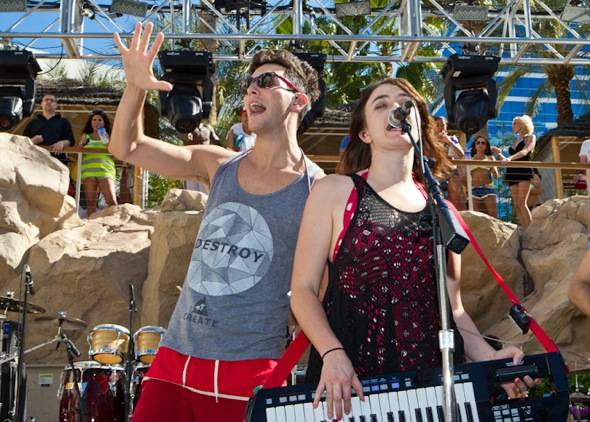 Cobra Starship Performs at Hard Rock Hotel & Casino poolside in Las Vegas, NV on April 23, 2012