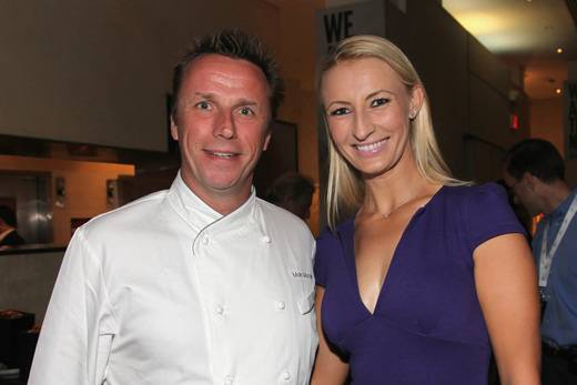 Chef Marc Murphy and tennis player Mirjana Lucic