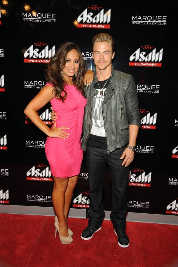 Dancing with the Stars' Cheryl Burke and Derek Hough at Marquee Nightclub
