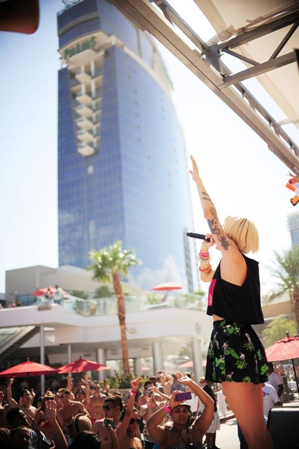 DEV performs for Palms Pool Saturdays at Palms Pool & Bungalows in Las Vegas 8.11.12