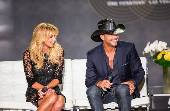 Tim McGraw and Faith Hill announce Soul2Soul at The Venetina in Las Vegas, NV on August 7, 2012