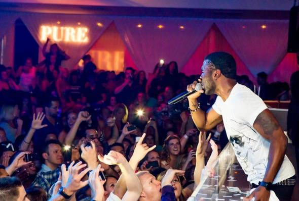 Jason Derulo performs at PURE Nightclub in Las Vegas, NV on July 7, 2012