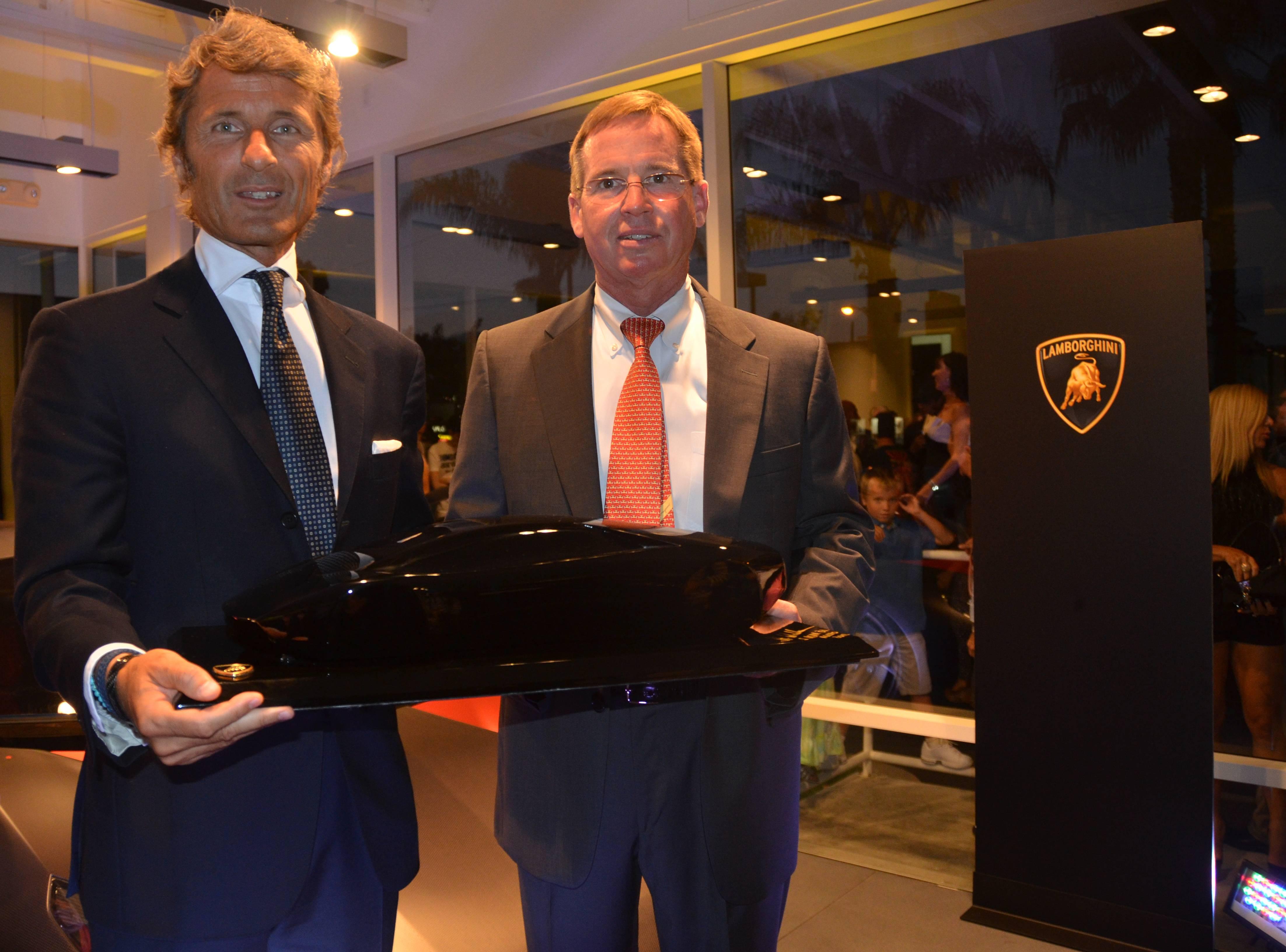 Lamborghini Newport Beach - Stephan Winkelmann (left) and Bill Story (right)
