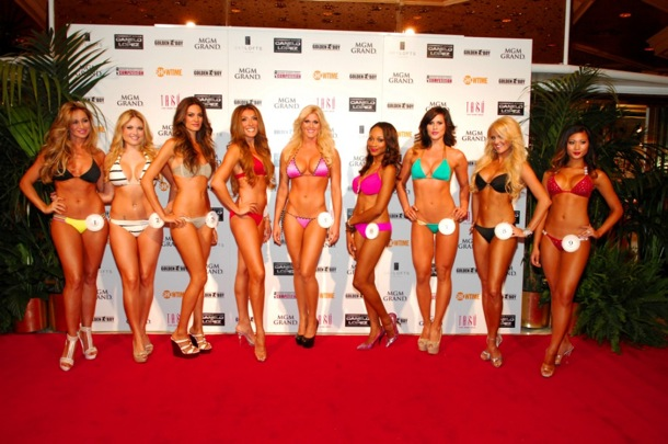 MGM Grand Ring Girl Competition - Ladies on Red Carpet- 8.17.12