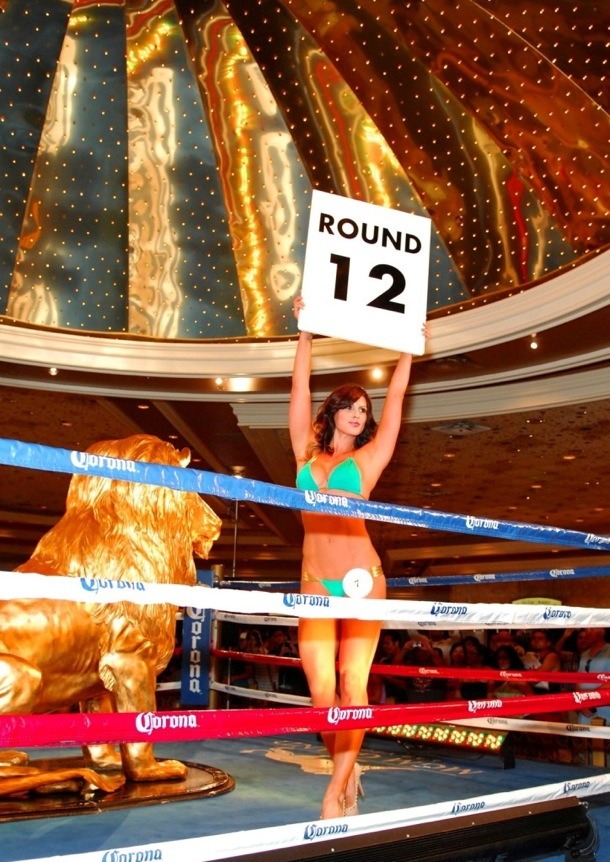 MGM Grand Ring Girl Competition - Winner Bridget Peters - 8.17.12
