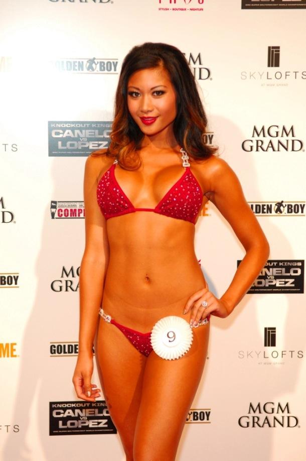 MGM Grand Ring Girl Competition - Winner Dana Klaharn - 8.17.12