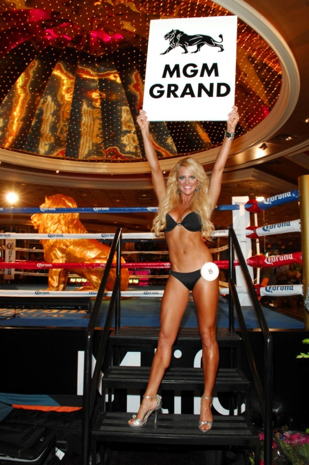 MGM Grand Ring Girl Competition - Winner Michelle McCoy - 8.17.12