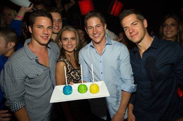 Ryan Baford, celebrates his birthday at Lavo
