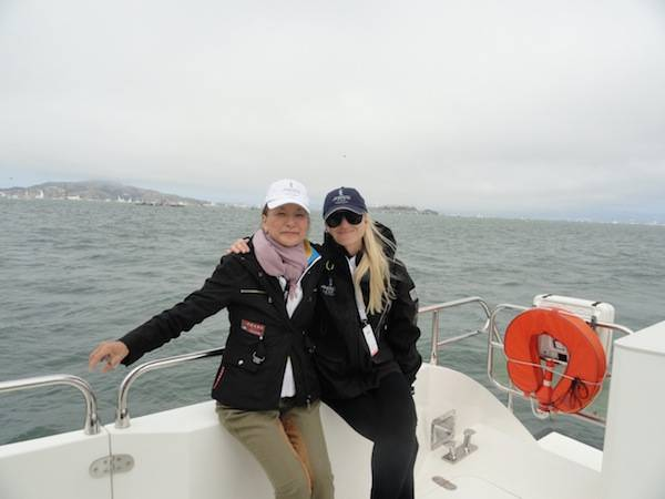 Olivia Decker with Jennifer Spithill