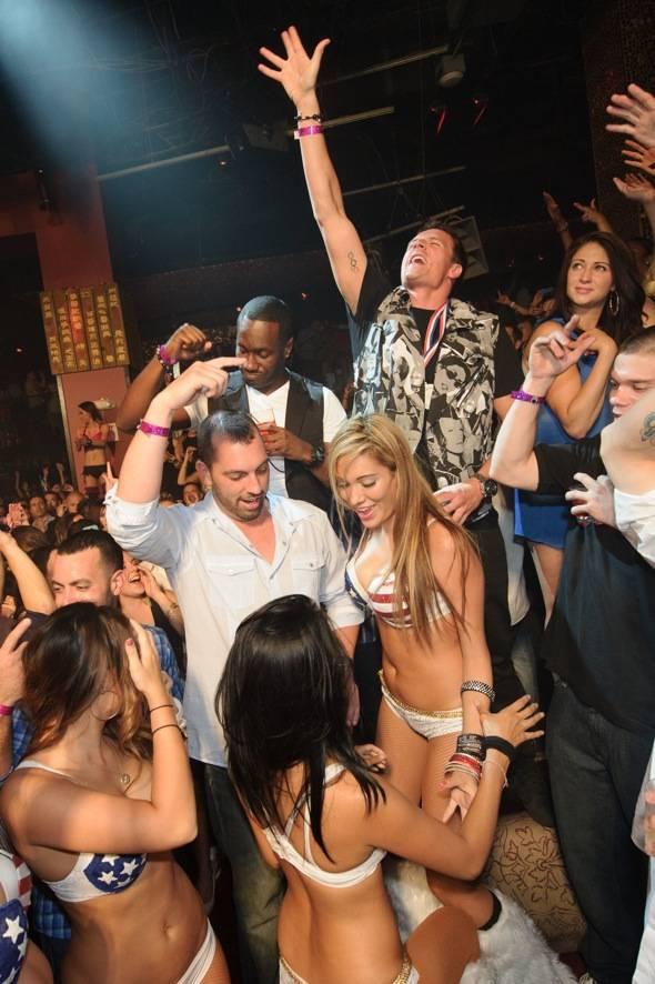 Olympic gold medalist, Ryan Lochte, celebrates at TAO Nightclub