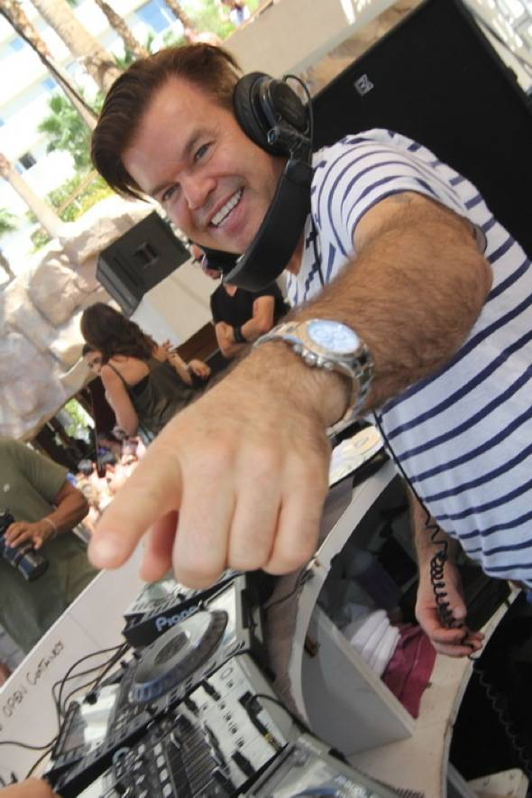 Paul Oakenfold in DJ booth