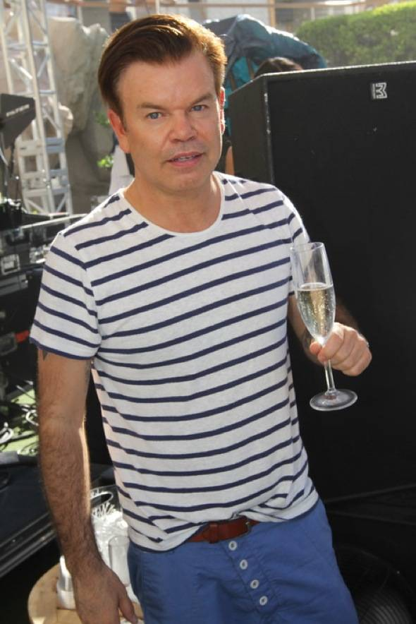 Paul Oakenfold with champagne