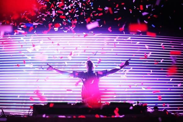 Rusko performs at Rain Nightclub in Las Vegas 8.4.12