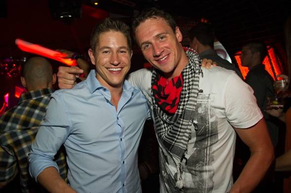 Ryan Lochte, continues his celebration at LAVO