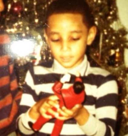 Super Throwback Thursday, I thought I was the KING when I got my new MJ toy. FYI, I broke his legs in 15 minutes trying to make him moonwalk. — Swizz Beats