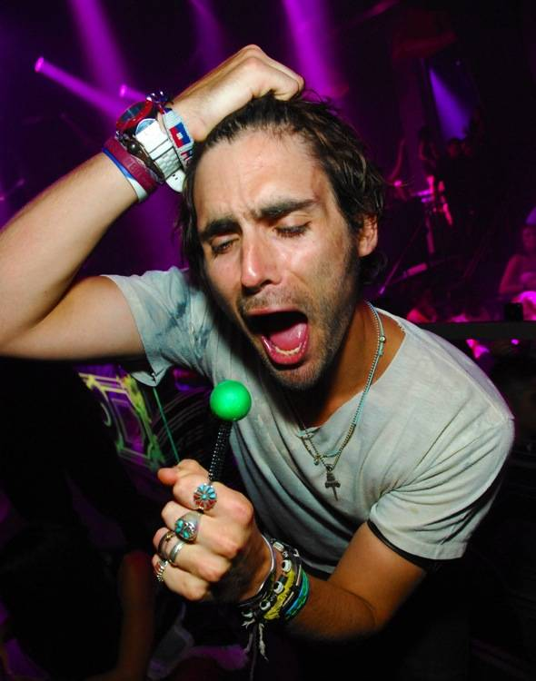 Tyson Ritter rocks out with couture pop