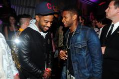 Usher and Kid Cudi