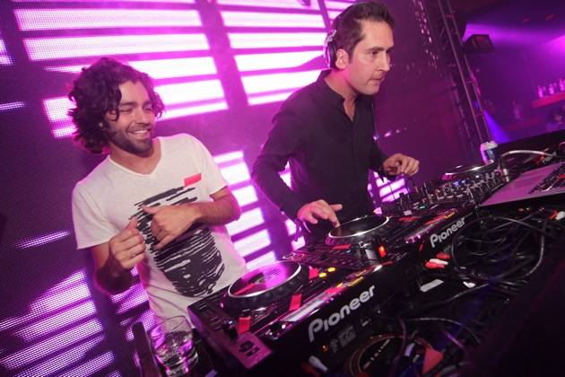 Adrian Grenier with Instagram co-founder and CEO Kevin Systrom at Rain Nightclub 9.29.12