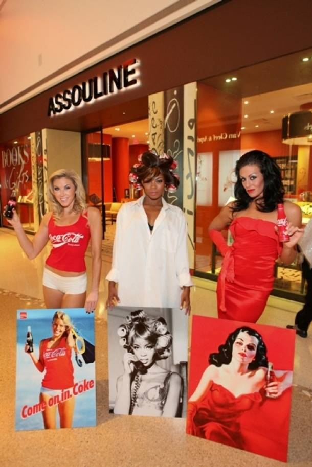 Assouline's Coca-Cola girls at Crystals FNO 2012 - Staff photo, Powers Imagery LLC