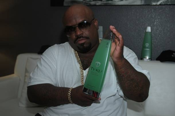 CeeLo with TY KU Liqueur Bottle