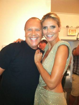 We shot the Project Runway Season 10 finale today! Was a great show...but, you have to wait till Oct 18th to see it!—Heidi Klum
