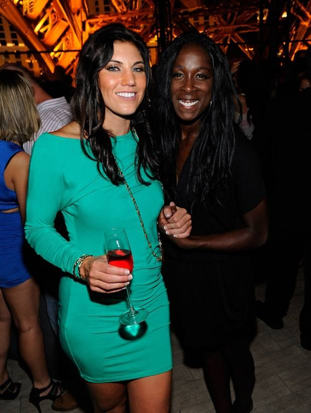 Hope Solo Celebrates Gold Medal With Teammates At Chateau Nightclub In Las Vegas