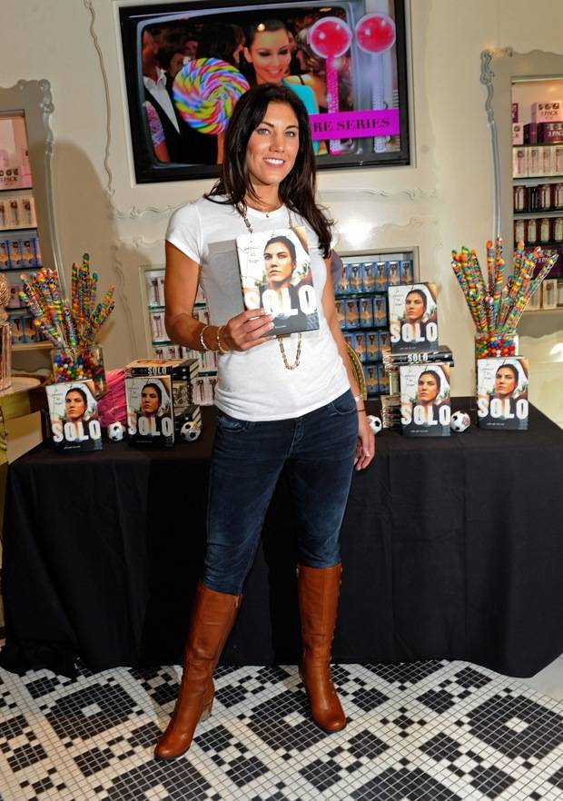 Hope Solo Holds Book Signing At Sugar Factory At Paris Las Vegas