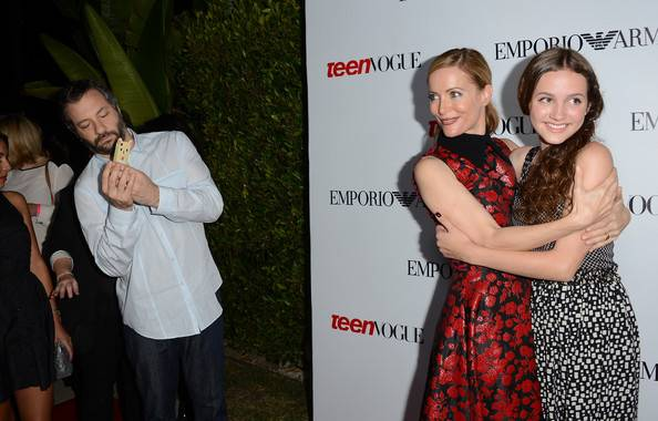 Leslie Mann, Judd Apatow  and Maude Apatow